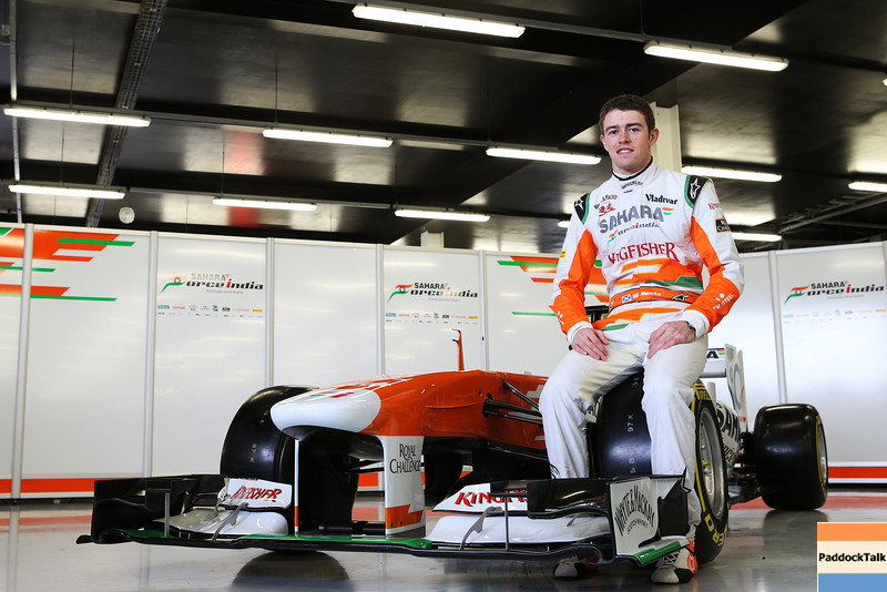 Paul di Resta (GBR) Sahara Force India F1 with the new Sahara Force India F1 VJM06.Sahara Force India F1 VJM06 Launch, Friday 1st February 2013. Silverstone, England.