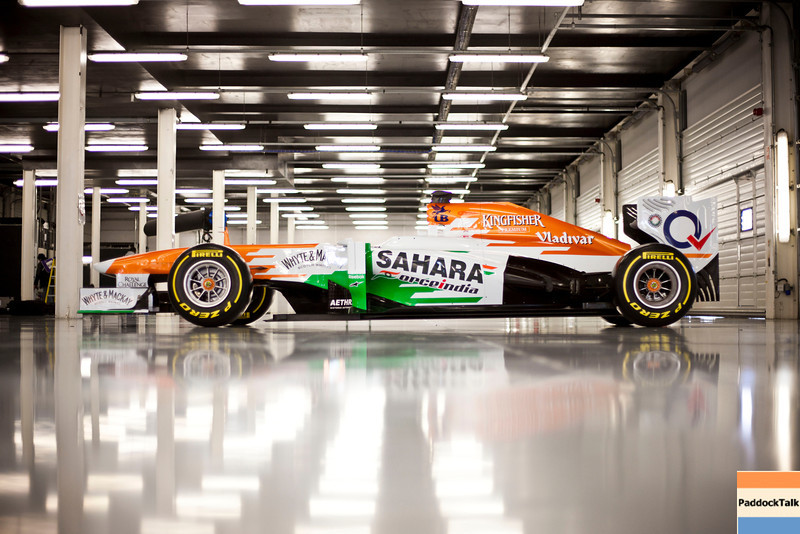 Sahara Force India F1 VJM06.<br /> Sahara Force India F1 VJM06 Launch, Friday 1st February 2013. Silverstone, England.