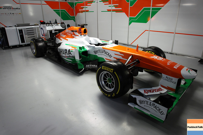 The Sahara Force India F1 VJM06.<br /> Sahara Force India F1 VJM06 Launch, Friday 1st February 2013. Silverstone, England.