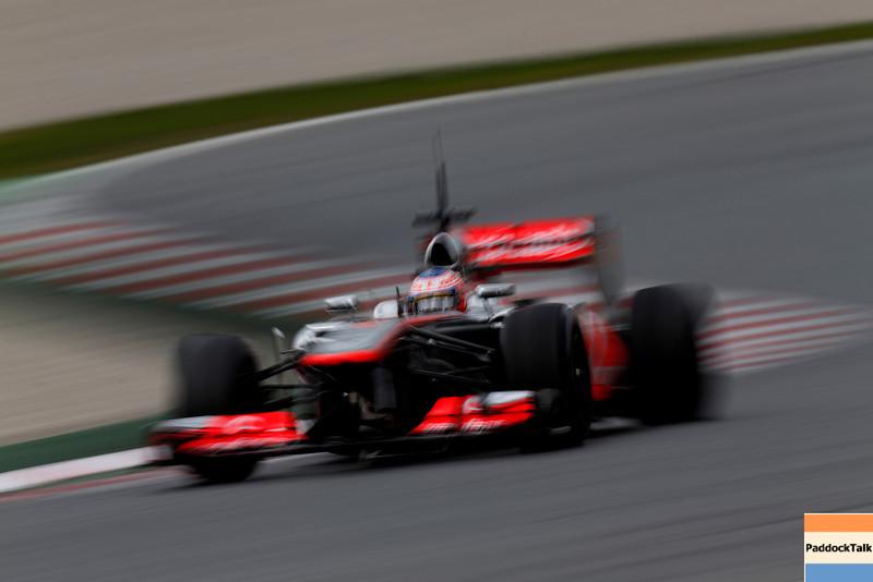 Jenson Button at Circuit de Catalunya