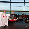 McLaren Technology Centre, Surrey, UK<br /> 31st January 2013 <br /> Sergio Perez, McLaren and Jenson Button, McLaren.<br /> Photo: Vodafone McLaren Mercedes (Copyright Free FOR EDITORIAL USE ONLY) <br /> ref: Digital Image _N7T0090