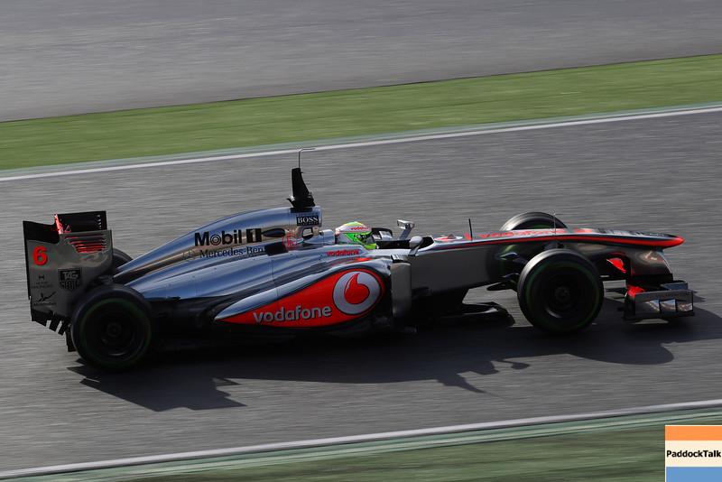 Checo Perez at Circuit de Catalunya