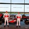 McLaren Technology Centre, Surrey, UK<br /> 31st January 2013 <br /> Jenson Button, McLaren and Sergio Perez, McLaren.<br /> Photo: Vodafone McLaren Mercedes (Copyright Free FOR EDITORIAL USE ONLY) <br /> ref: Digital Image _N7T0161