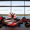 McLaren Technology Centre, Surrey, UK<br /> 31st January 2013 <br /> Jenson Button, McLaren, Martin Whitmarsh, Team Principal, McLaren and Sergio Perez, McLaren.<br /> Photo: Vodafone McLaren Mercedes (Copyright Free FOR EDITORIAL USE ONLY) <br /> ref: Digital Image _N7T0131
