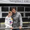 DTM Nuerburgring, Kurzanbindung, 07.08.2011<br /> HWA-Kommandostand<br /> Susie Stoddart<br /> Christian Wolff, HWA