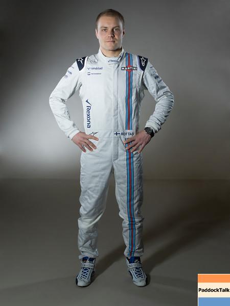 Williams F1 Driver Studio Images.<br /> January 2015.<br /> Valtteri Bottas.<br /> Photo: Williams F1 Team<br /> ref: Digital Image WILLIAMS JAN2753 Edit