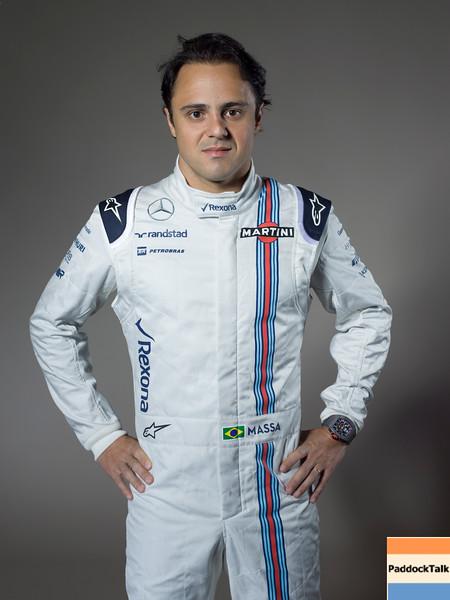 Williams F1 Driver Studio Images.<br /> January 2015.<br /> Felipe Massa.<br /> Photo: Williams F1 Team<br /> ref: Digital Image WILLIAMS JAN1240 Edit