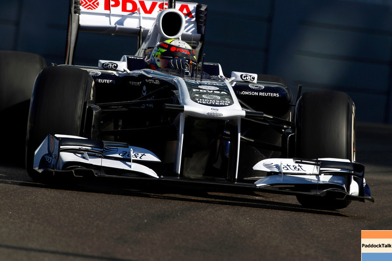 2011 Abu Dhabi Grand Prix - Friday<br /> Yas Marina Circuit, Abu Dhabi, United Arab Emirates<br /> 11th November 2011.<br /> Pastor Maldonado, Williams FW33 Cosworth. <br /> Photo: Charles Coates/LAT Photographic <br /> ref: Digital Image _Z9C2490