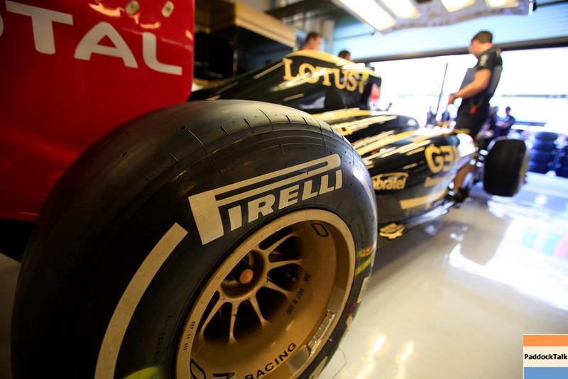 2011 Abu Dhabi Grand Prix - Thursday<br /> Yas Marina Circuit, Abu Dhabi, United Arab Emirates<br /> 10th November 2011.<br /> A Pirelli tyre<br /> Photo: Andrew Ferraro/LAT Photographic <br /> ref: Digital Image AF5D0144