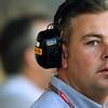 2011 Abu Dhabi Grand Prix - Friday<br /> Yas Marina Circuit, Abu Dhabi, United Arab Emirates<br /> 11th November 2011.<br /> A Pirelli staff member<br /> Photo: Lorenzo Bellanca/LAT Photographic <br /> ref: Digital Image GU5G4477