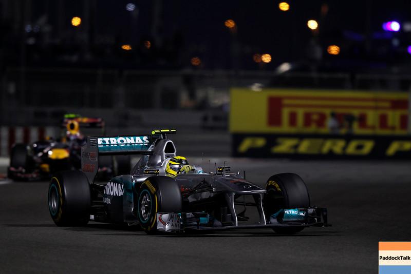 2011 Abu Dhabi Grand Prix - Sunday<br /> Yas Marina Circuit, Abu Dhabi, United Arab Emirates<br /> 13th November 2011.<br /> Nico Rosberg, Mercedes GP W02. <br /> Photo: Charles Coates/LAT Photographic <br /> ref: Digital Image _Z9C0276