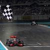 2011 Abu Dhabi Grand Prix - Sunday<br /> Yas Marina Circuit, Abu Dhabi, United Arab Emirates<br /> 13th November 2011.<br /> Lewis Hamilton, McLaren MP4-26 Mercedes. <br /> Photo: Andrew Ferraro/LAT Photographic <br /> ref: Digital Image _Q0C9145