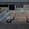 2011 Abu Dhabi Grand Prix - Sunday<br /> Yas Marina Circuit, Abu Dhabi, United Arab Emirates<br /> 13th November 2011.<br /> Sebastian Vettel, Red Bull Racing RB7 Renault leads at the strat of the grand prix<br /> Photo: Lorenzo Bellanca/LAT Photographic <br /> ref: Digital Image GU5G8542