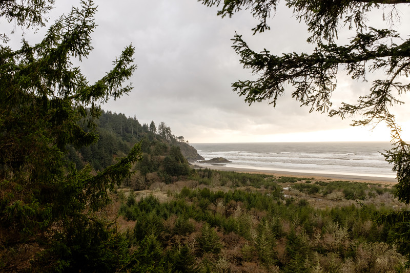 Late afternoon at the Pacific Ocean   Washington State   March 2017