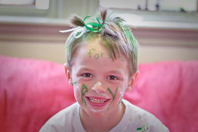 Green & White Faces-1012