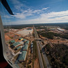 A collection of aerial photos of Fort Benning taken between 2009 and early 2010.