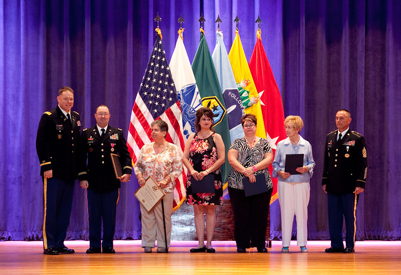 (FORT BENNING, Ga) Maneuver Center of Excellence Fort Benning, Georgia Installation Retirement Ceremony, July 17, 2013 at the Marshall Auditorium. (Photo by Ashley Cross/MCoE PAO Photographer)
