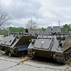 25 FEB 2011 - M113 Armored Personnel Carriers. Armor museum artifacts stored at the outdoor holding lot on Sand Hill, MCoE, Fort Benning, GA.  Photo by John D. Helms - john.d.helms@us.army.mil