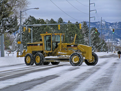 They had everything that could move snow out and working.  This one is having a little trouble making a u-turn : )