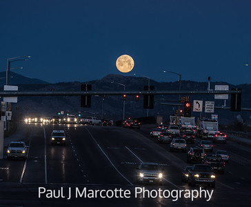 Full moon looking west on Mulberry