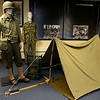 This is a display of a WWII camp setu with soldier at the Fort Devens Museum. SUN/JOHN LOVE