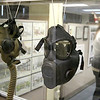 Some of the Army gasmasks on display at the Fort Devens Museum on Friday morning. SUN/JOHN LOVE