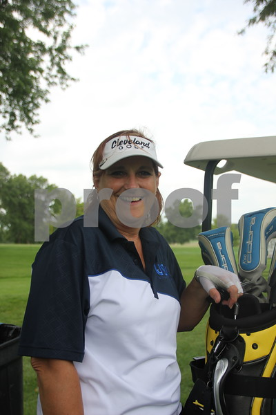 Mel Patterson takes part in the Fort Dodge Chamber of Commerce Golf Outing event held at the Fort Dodge Country Club on Thursday, August 6, 2015.