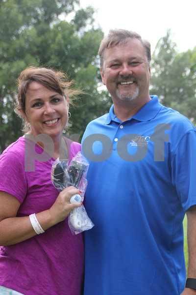 Bennet O'Conner and Katie Averill were participants in the Fort Dodge Chamber of Commerce Golf Outing event held on Thursday, August 6, 2015, at the Fort Dodge Country Club.