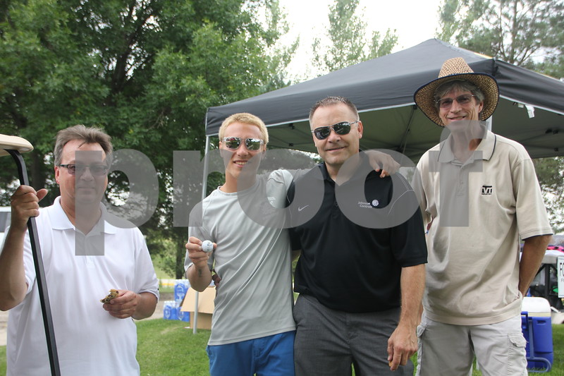 Shown  here is another team who took part in the Fort Dodge Chamber of Commerce  Golf Outing held on Thursday, August 6, 2015 at the Fort Dodge Country Club. Left to right is : Tim Yates, Nate Lentsch, Bob Lentsch, Ron Conyers