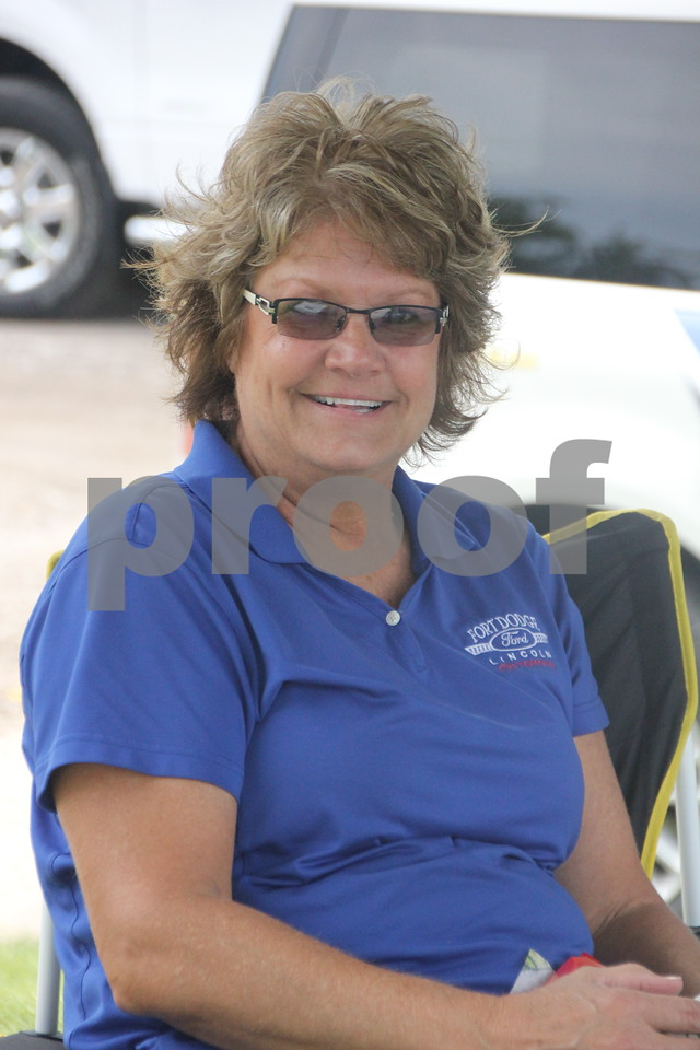 Seen here is : Jill Mischke who was another of the many volunteers helping out  with the Fort Dodge Chamber of Commerce  Golf Outing  on Thursday, August 6, 2015 at the Fort Dodge Country Club.