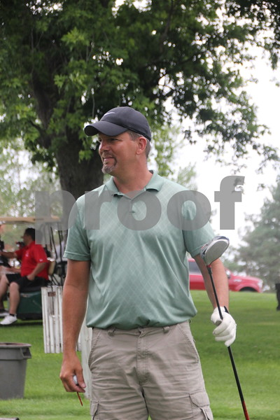 Darrin Eckard takes part in the Fort Dodge Chamber of Commerce Golf Outing held at the Fort Dodge Country Club on Thursday, August 6, 2015.
