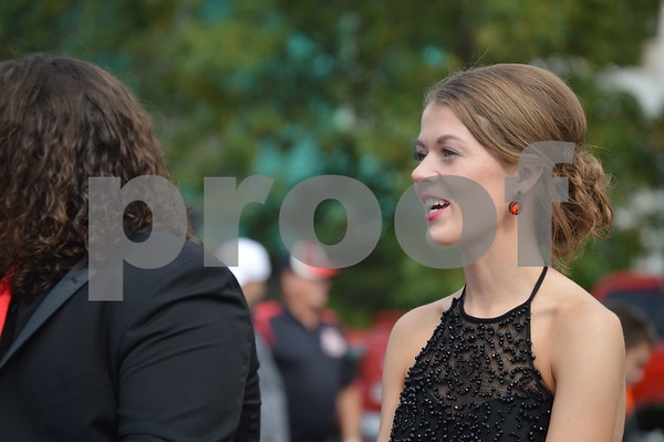 Homecoming court member Anna Taylor appeared at the parade.