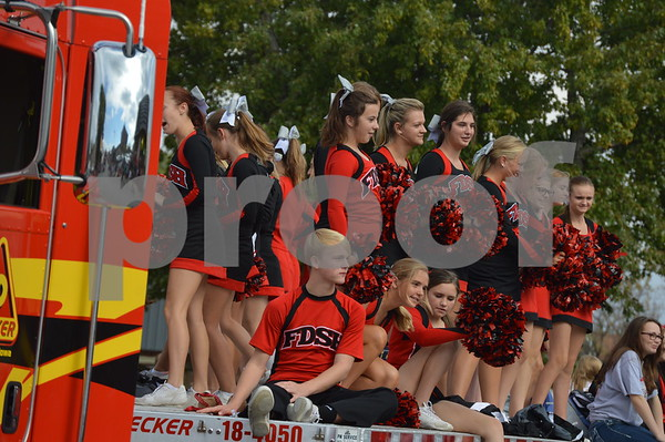 FDSH cheerleaders appeared on their own float at the parade.