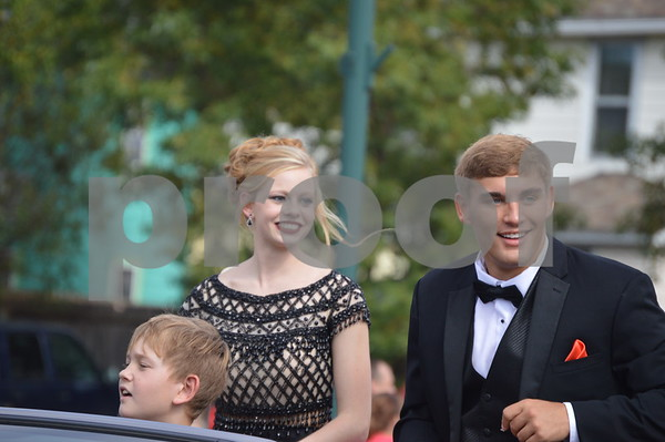 Homecoming court members Hannah Amhof and Keaton Dornath  appeared at the parade.