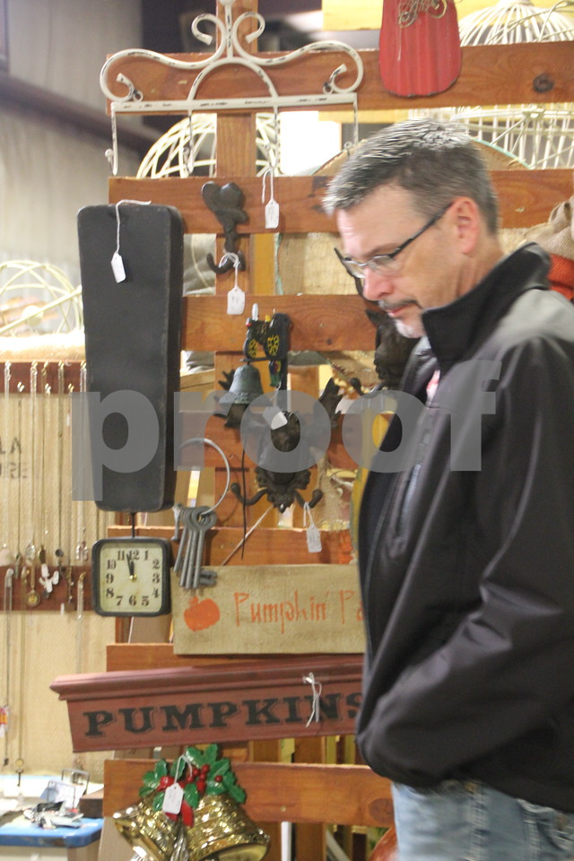 Pictured is: Todd Stephan. The place to be if you enjoy vintage and re-purposed things was the Vintage Market, which took place at the East Campus of Iowa Central Community College on Saturday, October 17, 2015.