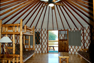Yurt Interior at Fort Yargo State Park
