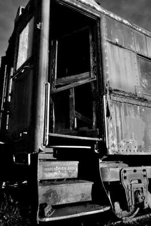 After everyone left, checked out the old train cars down by the Skunk Train.