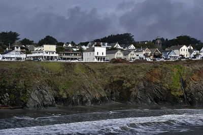 The classic view of Mendocino town.