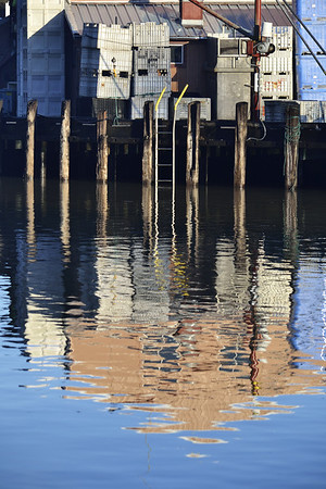 Nice reflections as the sun hit the harbor.