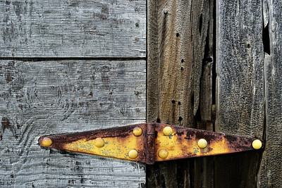 The requisite rusty-hinge-on-a-barn shot.