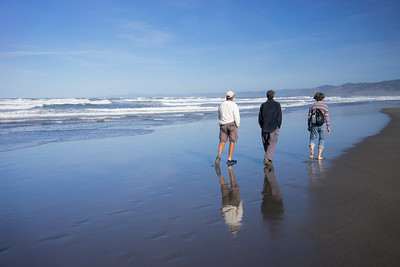 Rick, Guy and Liz on 10 mile beach