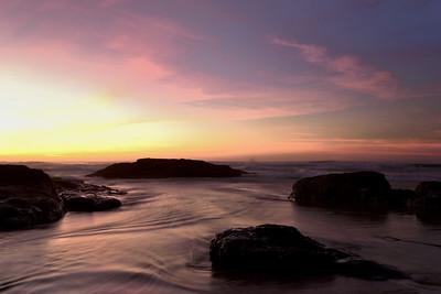 Sunset, MacKerricher Park beach.