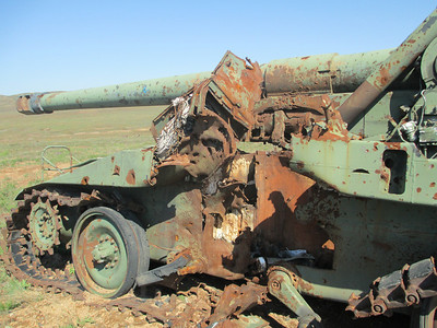 West range direct hit on 8 inch Howitzer