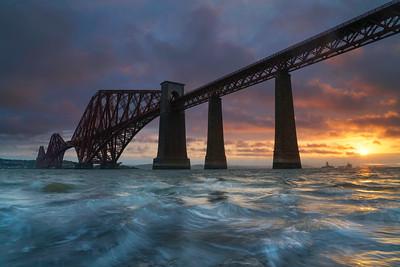 Forth Rail Bridge at Sunrise.