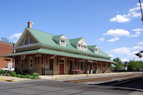 1910 Train Depot in Orange, VA is now the Visitors Center.