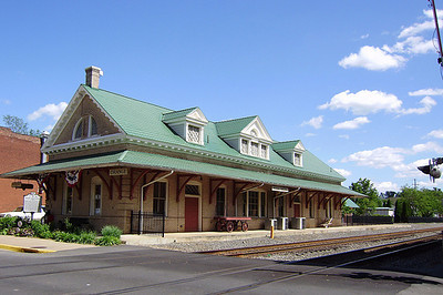 1910 Train Depot in Orange, VA is now the Visitors Center.