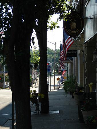 Quaint Main Street in Orange, VA
