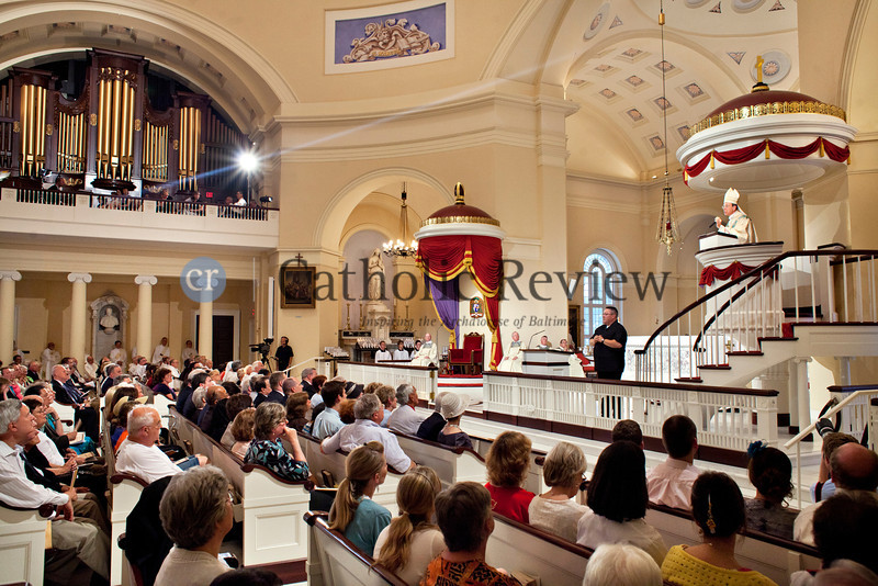Archbishop William E. Lori delivers the Homily during the Opening Mass for the Fortnight for Freedom at the Basilica of the National Shrine of the Assumption of the Blessed Virgin Mary in Baltimore June 21. (Tom McCarthy Jr. | CR Staff)