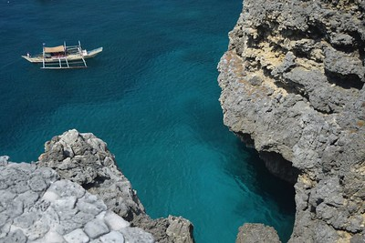 Spot on the southern side of the island ideal for cliff diving