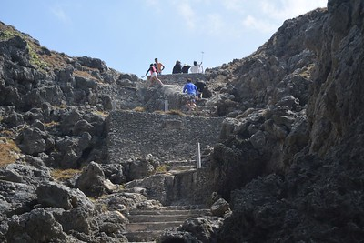 stairway going down to the cliff diving spot